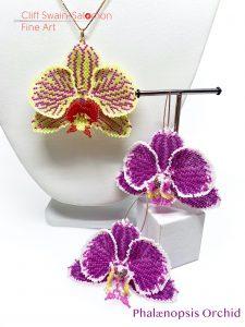 Phælanopsis Orchid Pendant/Earrings