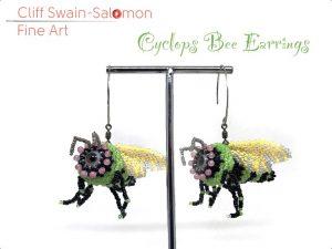 Cyclops Bee Earrings